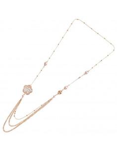 Collana in bronzo con perle...