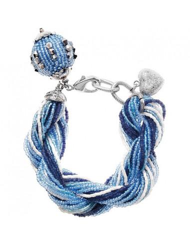 Bracciale Ottaviani torchon Bianco e Blu