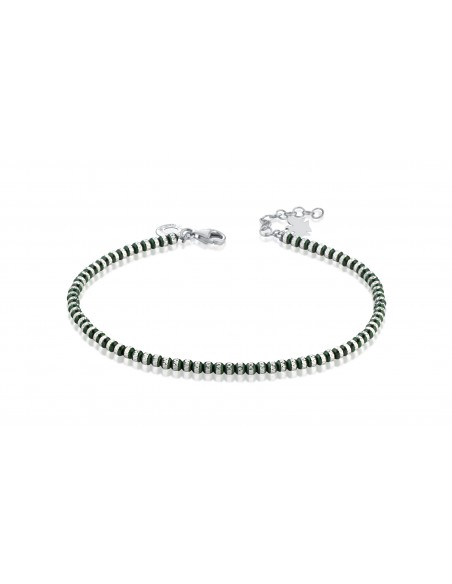 Bracciale angeli sfere dark green diamantate GIA354 - orola.it