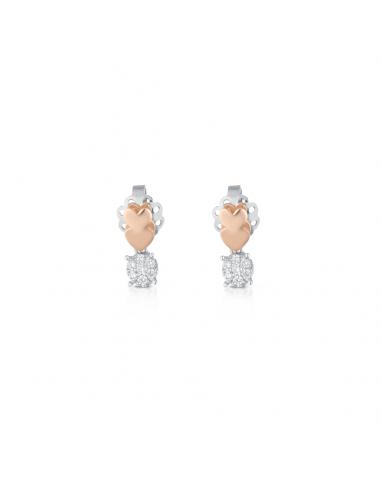 Orecchini Angeli di Giannotti cuori e diamanti LUX14 - orola.it