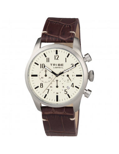 Breil Tribe Classic Elegance Extension cronografo pelle marrone chairo